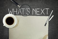 Whats Next Concept On Blackboard Royalty Free Stock Images - 64258779