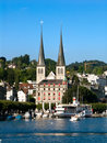 Hofkirche In Lucerne, Luzern, Switzerland Royalty Free Stock Photography - 6435287