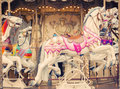 Carousel Merry-go-round Paris Horse Vintage Background Royalty Free Stock Images - 64308649