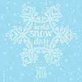 World Snow Day Celebration. Winter Snowfall Background Royalty Free Stock Images - 64352539
