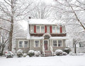 Snow Covered House Royalty Free Stock Image - 64359456