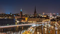 Stockholm At Night Royalty Free Stock Images - 64369289