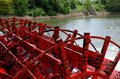 Paddle Boat Wheel Spinning In The Water Stock Photos - 64396623