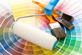 Brushes And Paint-roller Royalty Free Stock Image - 6441236