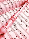 Flute And Music Score Royalty Free Stock Image - 6441426