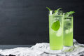 Green Cocktail With Mint Royalty Free Stock Image - 64414446