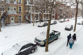 First Snow Storm Of The Season Hits Montreal, Canada. Stock Photography - 64419752