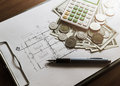 Investment For Construction With Limit Budget Stock Image - 64434071