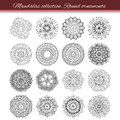 Set Of Abstract Design Element. Round Mandalas In Vector. Graphic Template For Your Design. Decorative Retro Ornament. Hand Drawn Royalty Free Stock Photos - 64446798