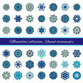 Set Of Abstract Design Element. Round Mandalas In Vector. Graphic Template For Your Design. Decorative Retro Ornament. Hand Drawn Royalty Free Stock Image - 64446856