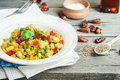 Vegetarian Vegetable Stew With Peas And Corn, Curry, Healthy Din Royalty Free Stock Photos - 64468488