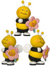 Bee With Flower - Small Toy Stock Photos - 6456513