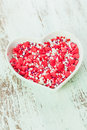 Valentine Cake Decorations Stock Photo - 64518620