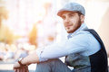 Portrait Of A Trendy Young Man In The City Royalty Free Stock Photography - 64518647
