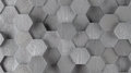 Silver Hexagonal Tile Background (Lights On) Stock Photos - 64535783