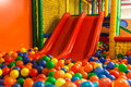 Indoor Playground Slides Royalty Free Stock Photo - 64550675