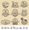 Set Of Vintage And Modern Farm Badge Logo Royalty Free Stock Images - 64552219