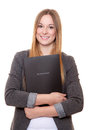 Young Woman Holding Her Application File Stock Photos - 64563663