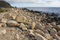 Boulders On The Beach Along Southern Coast Of Connecticut. Royalty Free Stock Image - 64593536