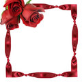Red Roses On Framework From A Tape With Knots Royalty Free Stock Image - 6469446
