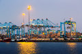 Early Morning View Of  Port Of Algeciras Stock Photos - 64601693