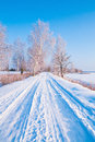 Winter Road Stock Images - 64616014