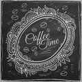 Coffee Time Decorative Border. Background Stock Photo - 64616710