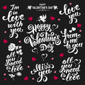 Valentines Day Lettering Stock Images - 64617254