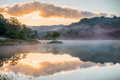 Mirrored Sunrise On Rydal Water, In The Lake District Stock Images - 64638774