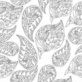 Black-and-white Seamless Pattern Royalty Free Stock Images - 64642849