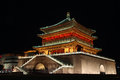 Illuminated Famous Ancient Bell Tower At Night, Xian, China. Stock Photo - 64643570