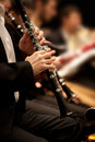 Hands Of Man Playing The Clarinet Royalty Free Stock Photography - 64653077