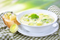 Cheese And Leek Soup Royalty Free Stock Photo - 64653355