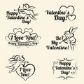 Valentines Day Vintage Card Templates Of Banners Stock Photos - 64655113