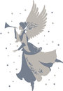 Beautiful Angel Silhouette Stock Photo - 64657410