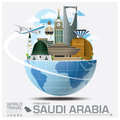 Kingdom Of Saudi Arabia Landmark Global Travel And Journey Infog Royalty Free Stock Images - 64661939