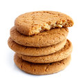 Stack Of Ginger Biscuits. Stock Images - 64665394