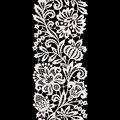 White Lace. Vertical Seamless Pattern. Stock Photography - 64680082