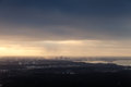 Panoramic Skyline Of Tallinn City At Cloudy Winter Day Stock Photography - 64686672