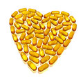 Hearth Of Capsules On White Royalty Free Stock Photography - 6475997