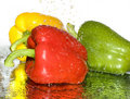 Freshness Paprika Over White Stock Image - 6477011