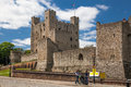 Rochester Castle 12th-century. Castle And Ruins Of Fortifications. Kent, South East England. Stock Photos - 64721273