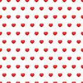 Red Hearts Seamless Pattern Stock Photo - 64724740
