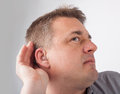 Deaf Man Cant Hear Stock Images - 64727184