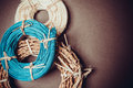 Colorful Rattan Rolls Stock Photos - 64728553