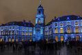 Light Show On Hotel De Ville In Rennes, France Stock Photo - 64737290