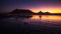 Table Mountain Sunset In South Africa Cape Town Silhouette Stock Image - 64737911