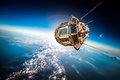 Space Satellite Over The Planet Earth Stock Images - 64756264
