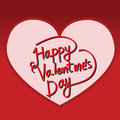 Happy Valentine S Day Lettering Card , Vector Illustration Stock Photos - 64757983