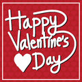 Happy Valentine S Day Lettering Card , Vector Illustration Royalty Free Stock Images - 64757999